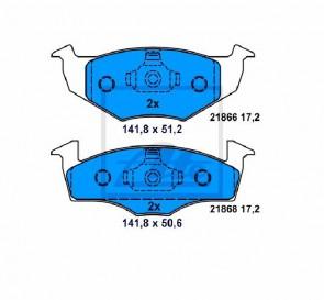 Bremsbelagsatz Bremsbeläge Bremsklötze Vorne ATE 13.0460-7100.2