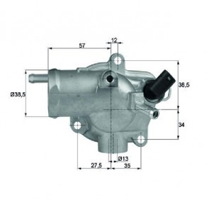 Thermostat mit Dichtung  92,0 °C MAHLE BEHR TH 13 92