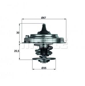 Thermostateinsatz mit DICHTUNG Thermostat 87° MAHLE BEHR TX 34 87 D