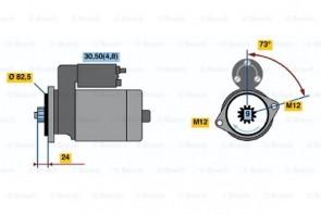 STARTER ANLASSER für Mercedes VW  BOSCH 0 001 125 055